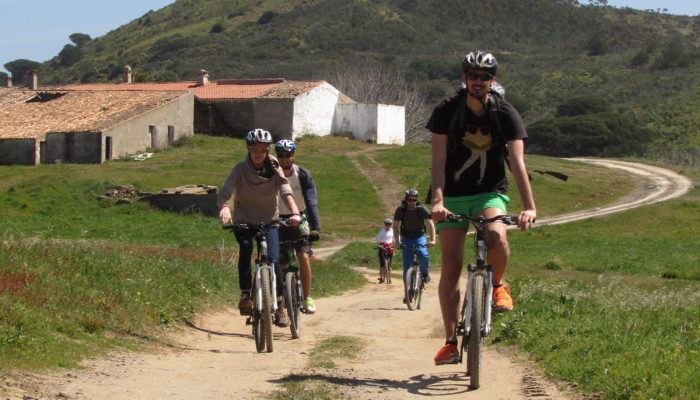 Bicycle route through the hills of Algarve