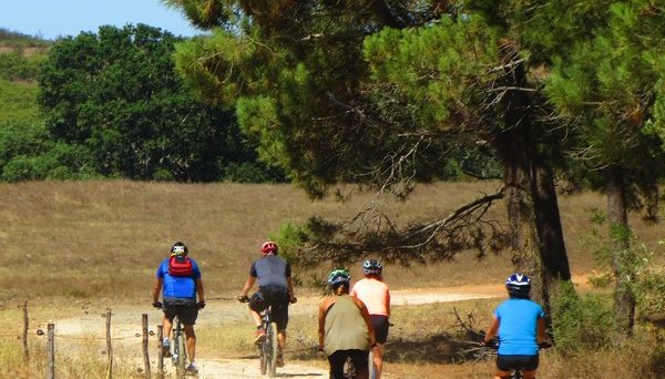 Beautiful countryside of Algarve, Portugal on a guided bike tour