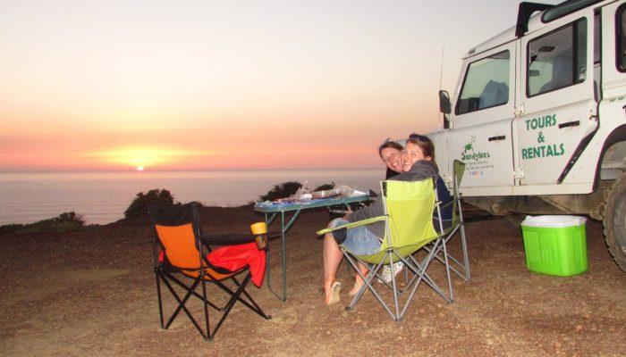 Scenic Sunset of Algarve Coast Jeep adventure with Sandy toes